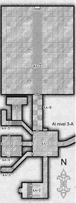 Mapa del nivel 4-A de Barakus