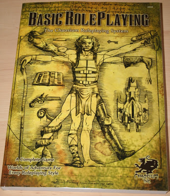 Reseña fotográfica de Basic Roleplaying RPG: Core Rulebook (d100 System)