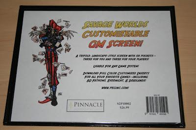 Savage Worlds Customizable GM Screen