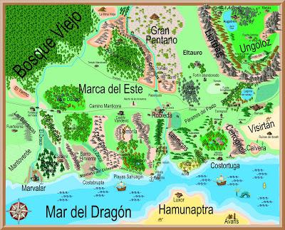 Mapa de Aventuras en la Marca del Este