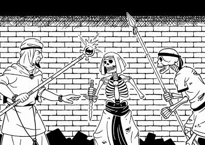 ¡Esqueletos neferitas!