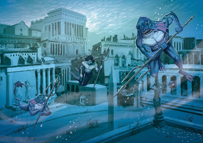 Mapas y ayudas de juego de los Salones Anegados de Leviatán