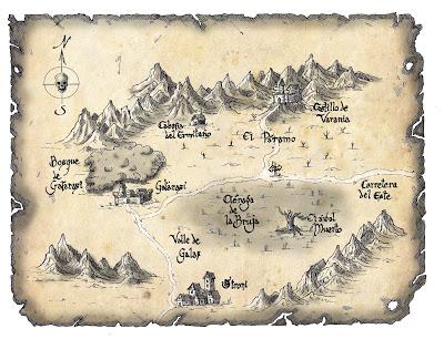 Mapa de la región de Varania