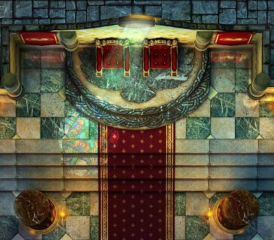 Salón del trono y cámaras reales