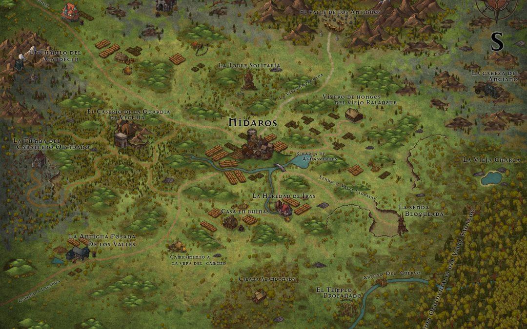 El mapa de Un Paseo por el Campo