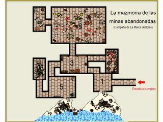 Mapa de las minas abandonadas