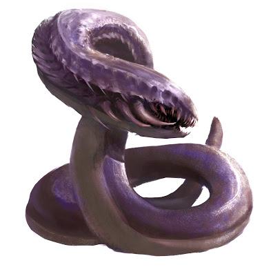 El gusano púrpura