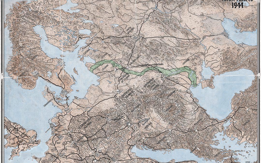 El mapa del Frente Oriental a la firma del Armisticio ya concluido